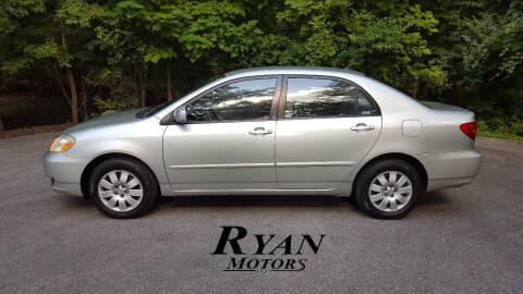 2004 Toyota Corolla for sale at Ryan Motors LLC in Warsaw IN