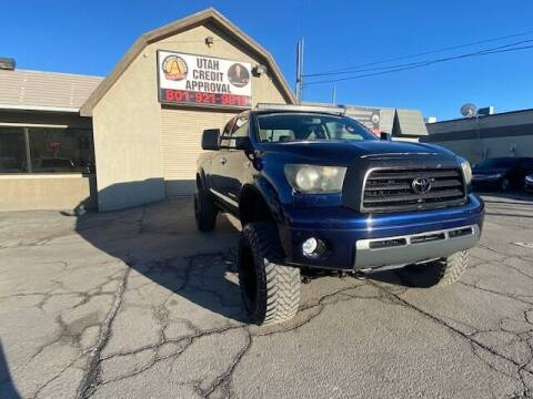 2007 Toyota Tundra for sale at Utah Credit Approval Auto Sales in Murray UT
