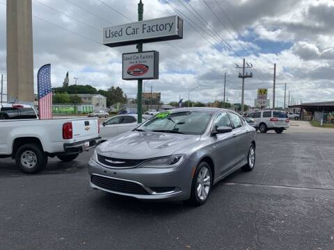 2016 Chrysler 200 for sale at Used Car Factory Sales & Service in Bradenton FL
