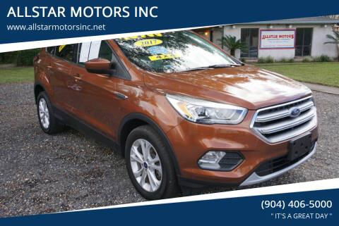 2017 Ford Escape for sale at ALLSTAR MOTORS INC in Middleburg FL