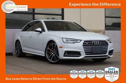 2018 Audi S4 for sale at Dallas Auto Finance in Dallas TX