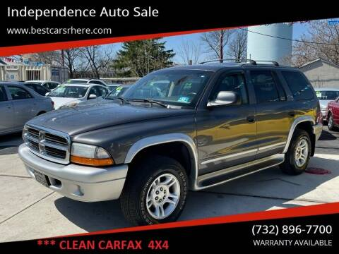 2003 Dodge Durango for sale at Independence Auto Sale in Bordentown NJ