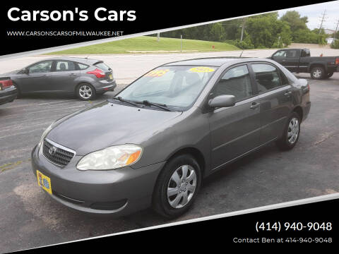 2005 Toyota Corolla for sale at Carson's Cars in Milwaukee WI