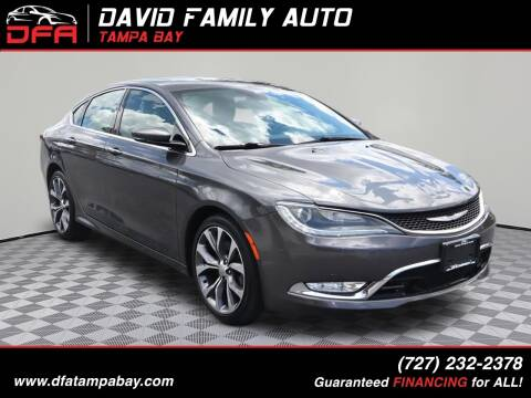 2016 Chrysler 200 for sale at David Family Auto, Inc. in New Port Richey FL