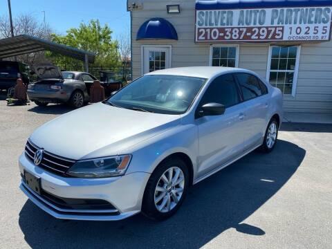 2015 Volkswagen Jetta for sale at Silver Auto Partners in San Antonio TX
