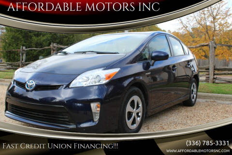 2013 Toyota Prius for sale at AFFORDABLE MOTORS INC in Winston Salem NC