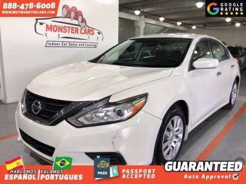 2016 Nissan Altima for sale at Monster Cars in Pompano Beach FL