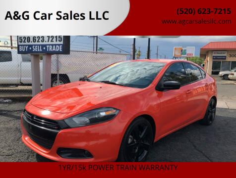 2015 Dodge Dart for sale at A&G Car Sales  LLC in Tucson AZ