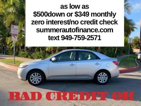 2012 Kia Forte for sale at SUMMER AUTO FINANCE in Costa Mesa CA