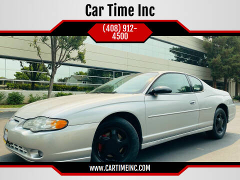 2000 Chevrolet Monte Carlo for sale at Car Time Inc in San Jose CA