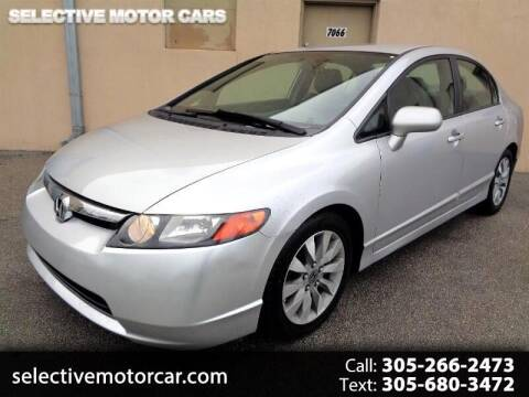 2007 Honda Civic for sale at Selective Motor Cars in Miami FL