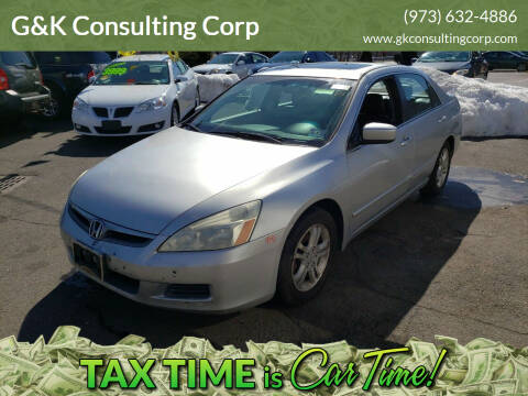 2006 Honda Accord for sale at G&K Consulting Corp in Fair Lawn NJ