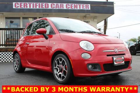 2012 FIAT 500 for sale at CERTIFIED CAR CENTER in Fairfax VA
