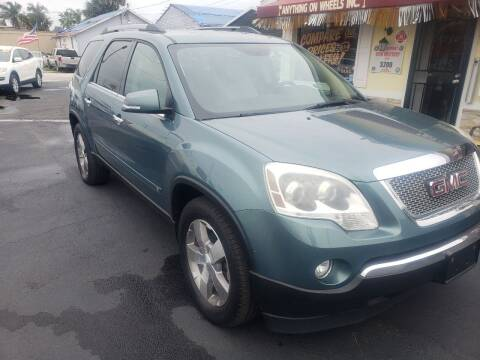 2010 GMC Acadia for sale at ANYTHING ON WHEELS INC in Deland FL
