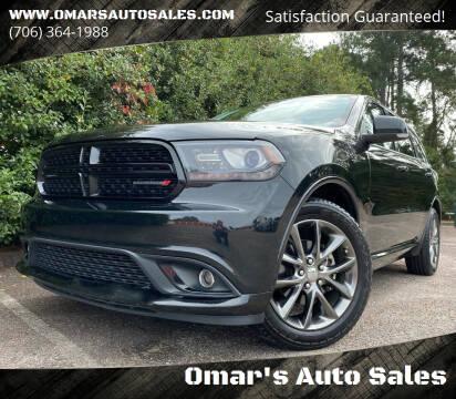 2015 Dodge Durango for sale at Omar's Auto Sales in Martinez GA