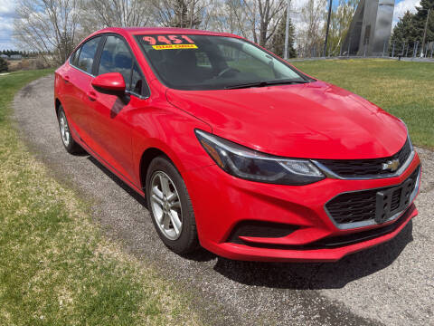 2017 Chevrolet Cruze for sale at BELOW BOOK AUTO SALES in Idaho Falls ID
