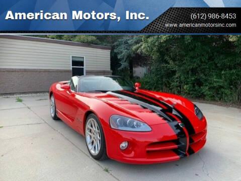 2003 Dodge Viper for sale at American Motors, Inc. in Farmington MN
