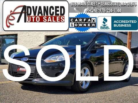 2013 Ford Focus for sale at Advanced Auto Sales in Tewksbury MA