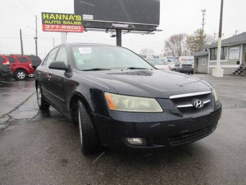 2007 Hyundai Sonata for sale at Hanna's Auto Sales in Indianapolis IN