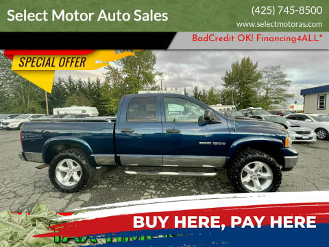 2005 Dodge Ram Pickup 1500 for sale at Select Motor Auto Sales in Lynnwood WA