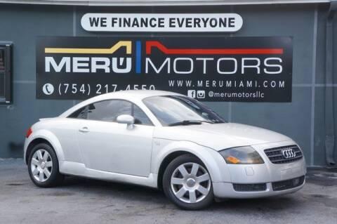 2003 Audi TT for sale at Meru Motors in Hollywood FL