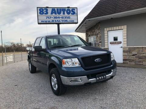 2004 Ford F-150 for sale at 83 Autos in York PA