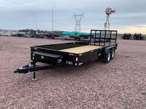 2021 H&H TSS 8.5x18 Solid Side #9735 for sale at Prairie Wind Trailers, LLC in Harrisburg SD