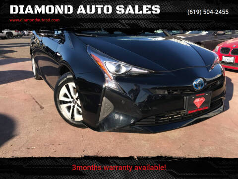 2017 Toyota Prius for sale at DIAMOND AUTO SALES in El Cajon CA