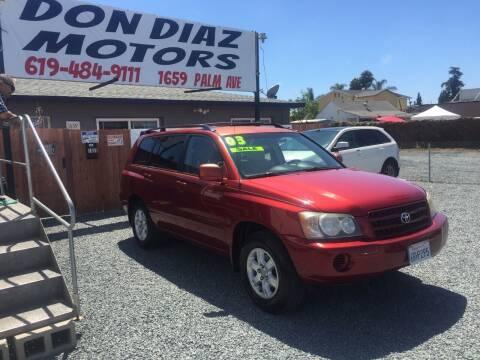 2003 Toyota Highlander for sale at DON DIAZ MOTORS in San Diego CA