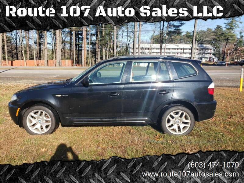 2007 BMW X3 for sale at Route 107 Auto Sales LLC in Seabrook NH