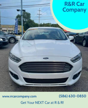 2015 Ford Fusion for sale at R&R Car Company in Mount Clemens MI