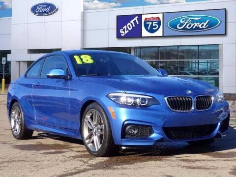 2018 BMW 2 Series for sale at Szott Ford in Holly MI