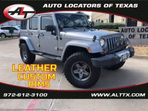 2013 Jeep Wrangler Unlimited for sale at AUTO LOCATORS OF TEXAS in Plano TX