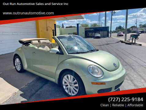 2008 Volkswagen New Beetle for sale at Out Run Automotive Sales and Service Inc in Tampa FL
