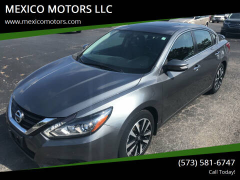 2018 Nissan Altima for sale at MEXICO MOTORS LLC in Mexico MO