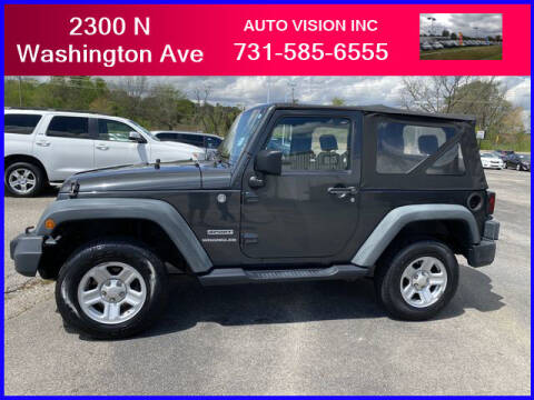 2010 Jeep Wrangler for sale at Auto Vision Inc. in Brownsville TN