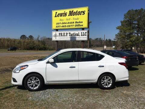 2018 Nissan Versa for sale at Lewis Motors LLC in Deridder LA