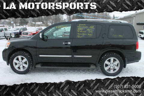 2014 Nissan Armada for sale at LA MOTORSPORTS in Windom MN