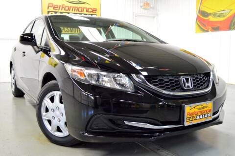 2013 Honda Civic for sale at Performance car sales in Joliet IL