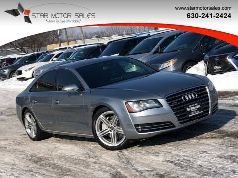 2013 Audi A8 for sale at Star Motor Sales in Downers Grove IL