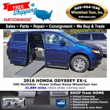 2016 Honda Odyssey for sale at Wheelchair Vans Inc - New and Used in Laguna Hills CA