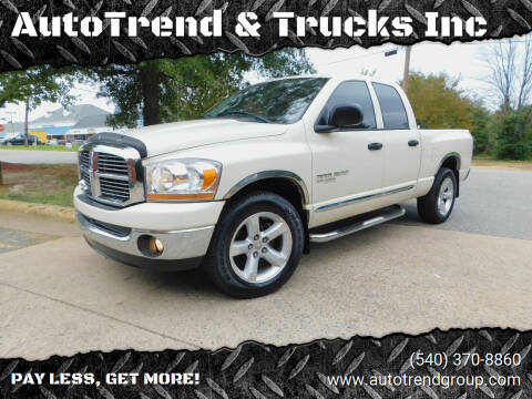 2006 Dodge Ram Pickup 1500 for sale at AutoTrend & Trucks Inc in Fredericksburg VA