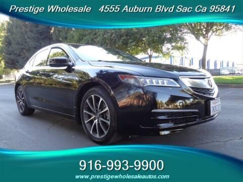 2015 Acura TLX for sale at Prestige Wholesale in Sacramento CA
