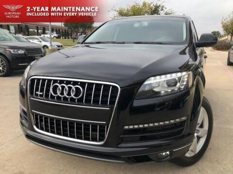 2015 Audi Q7 for sale at European Motors Inc in Plano TX