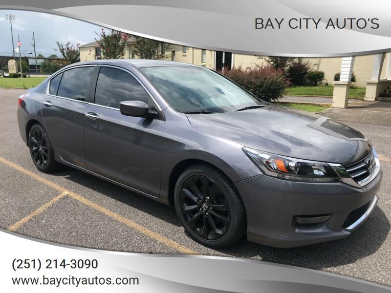 2014 Honda Accord for sale at Bay City Auto's in Mobile AL