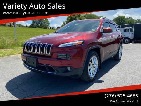2015 Jeep Cherokee for sale at Variety Auto Sales in Abingdon VA