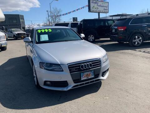 2009 Audi A4 for sale at ALASKA PROFESSIONAL AUTO in Anchorage AK