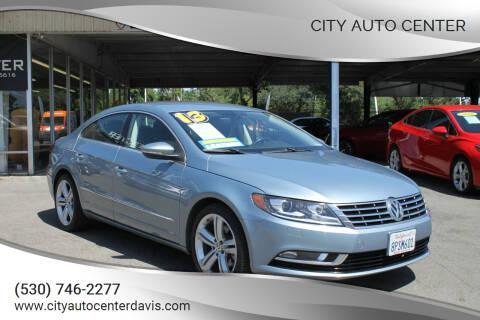 2013 Volkswagen CC for sale at City Auto Center in Davis CA