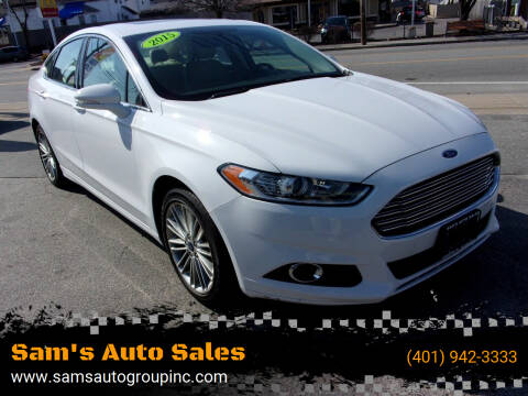 2015 Ford Fusion for sale at Sam's Auto Sales in Cranston RI