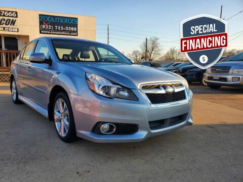 2014 Subaru Legacy for sale at ZORA MOTORS in Rosenberg TX